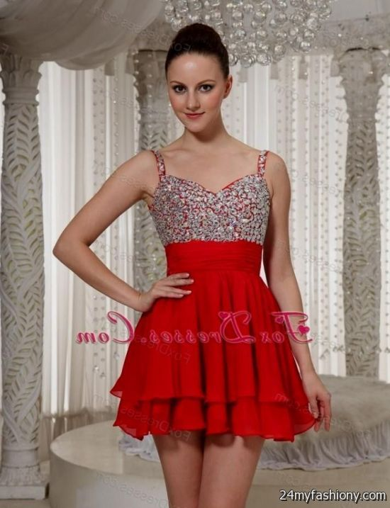 short red prom dresses with straps 2016-2017 » B2B Fashion