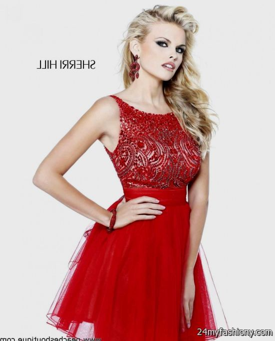 short red prom dresses with straps 20162017 b2b fashion