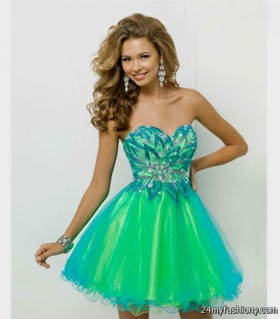 short teal prom dresses looks b2b fashion