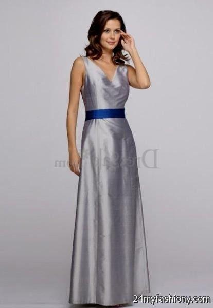 silver and blue bridesmaid dresses 20162017 b2b fashion