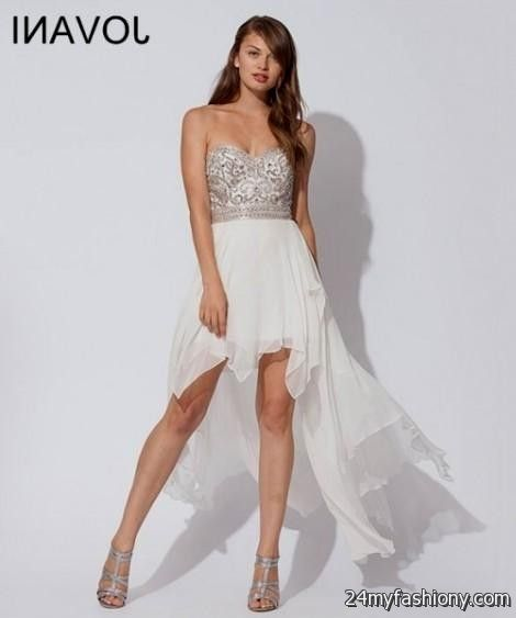 Silver White Dresses