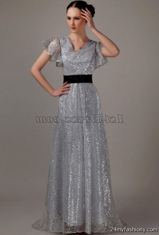 You Can Share These Silver Dresses With Sleeves On Facebook Stumble Upon My E Linked In Google Plus Twitter And All Social Networking Sites