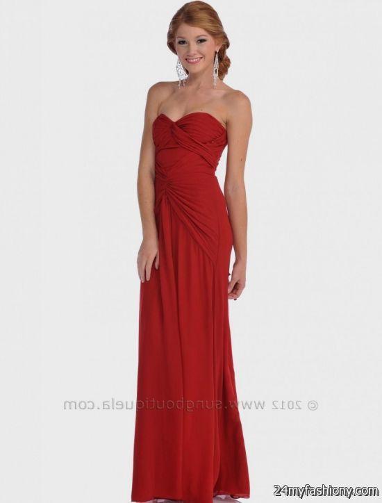 simple red strapless dress 2016-2017 » B2B Fashion