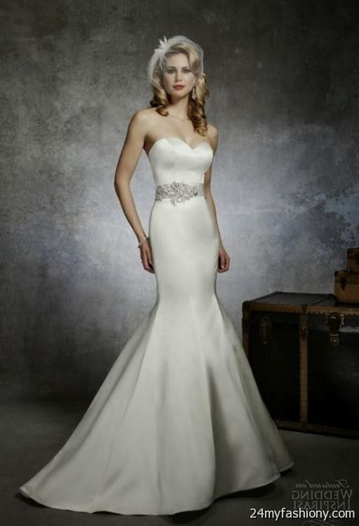 strapless satin mermaid wedding dresses 2016-2017 | B2B Fashion
