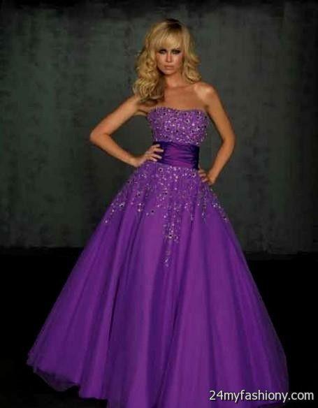Strapless Wedding Dresses With Purple 2016 2017 B2b Fashion