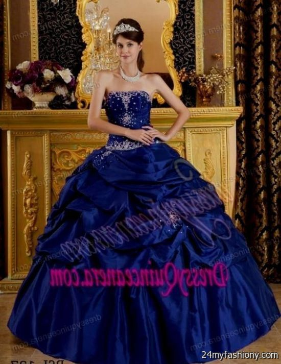 2c63c7e312c You can share these sweet 15 dresses dark blue on Facebook