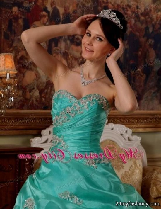 b453f446e54 You can share these sweet 15 dresses turquoise blue on Facebook