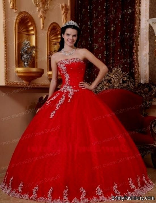 red sweet 16 dresses - Dress Yp