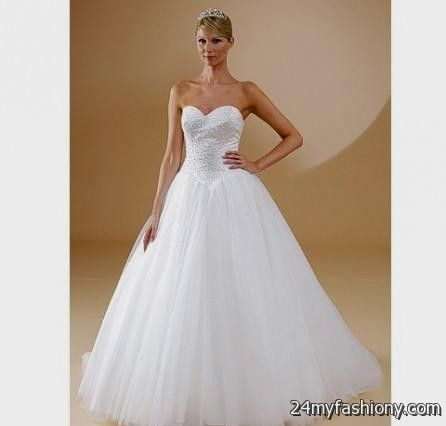 Sweetheart Neckline Princess Wedding Dresses - Short Hair Fashions
