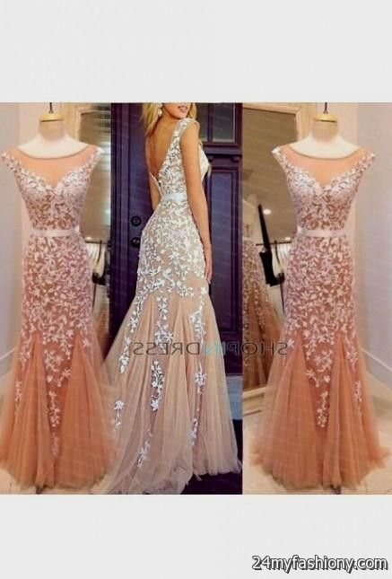 tan lace prom dress 2016-2017 » B2B Fashion
