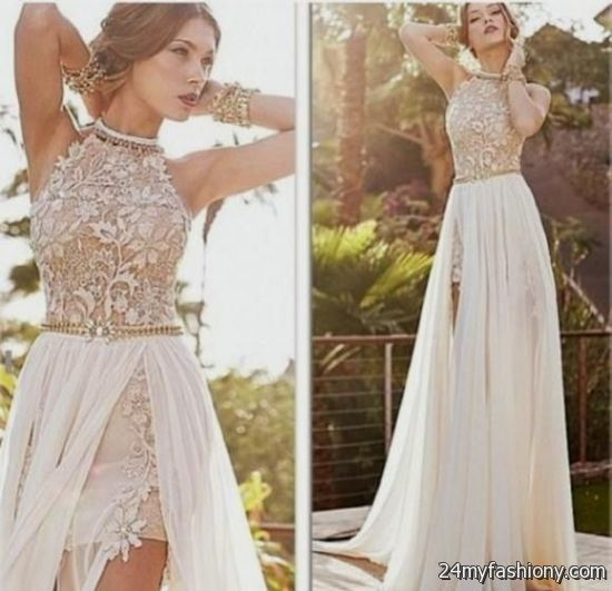 tan lace prom dress 20162017 b2b fashion