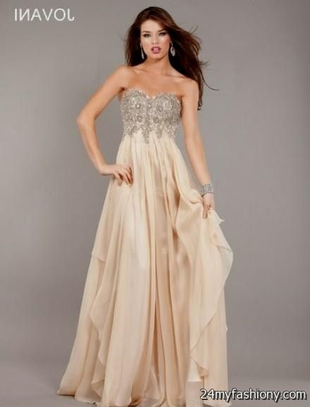 Tan Prom Gowns