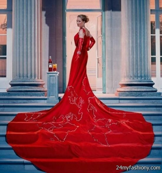 Most Beautiful Wedding Gown In The World: The Most Beautiful Red Dress In The World 2016-2017