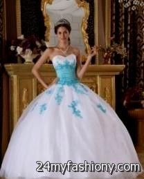 256d87a9dac You can share these tiffany blue and white quinceanera dresses on Facebook
