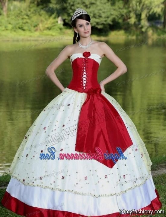 Traditional White Mexican Quinceanera Dresses 2016 2017