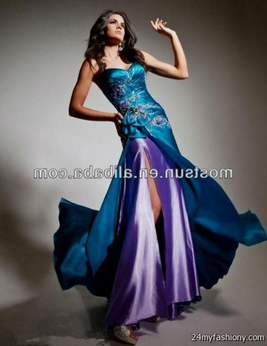 2da6b6cd3ca turquoise and purple bridesmaid dresses looks