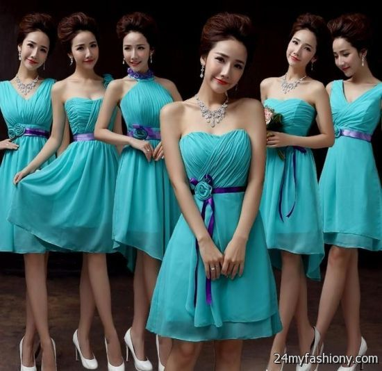 bridesmaid dresses turquoise and purple | Gommap Blog