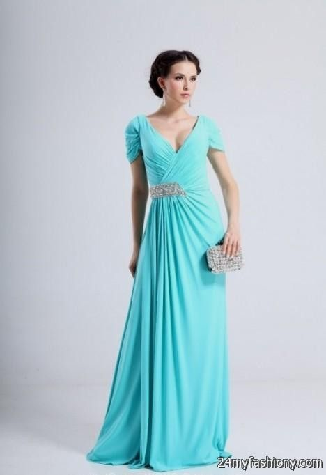 Turquoise Bridesmaid Dresses With Sleeves - Wedding Dress Ideas
