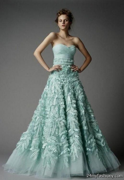 Unique colorful wedding dresses green 2016 2017 b2b fashion for Unique colorful wedding dresses