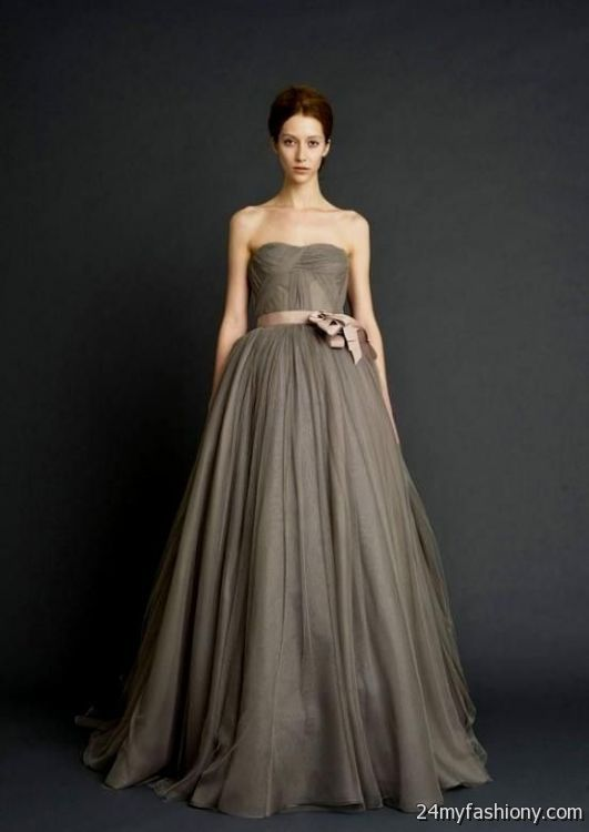 fd0573d8f4b vera wang gray wedding dress looks