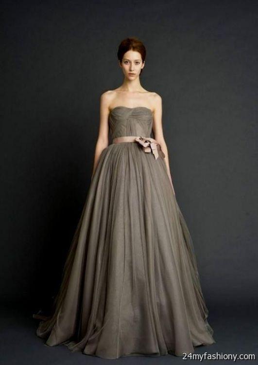 Vera Wang Grey Wedding Dress 2016 2017 B2b Fashion