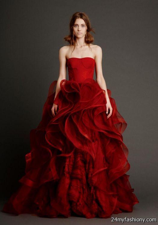 Vera wang red wedding dress 2016 2017 b2b fashion for Wedding dresses by vera wang 2017