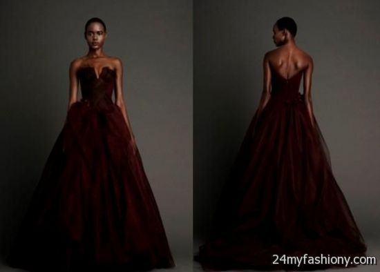 2168c53b275 You can share these vera wang red wedding dress on Facebook