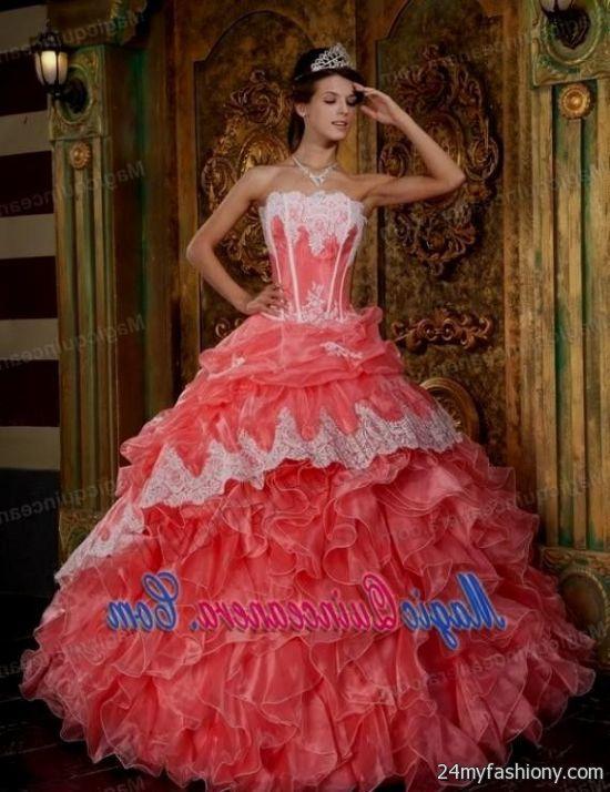 Watermelon quinceanera dresses 2016 2017 b2b fashion for Puerto rico wedding dresses
