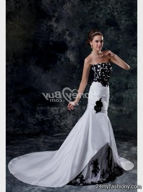 Black And White Mermaid Wedding Gowns : White and black mermaid wedding dress b fashion