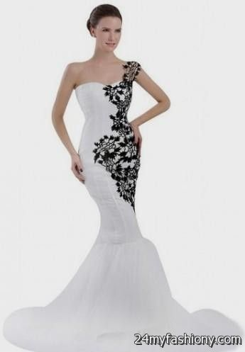 you can share these white and black mermaid wedding dress on facebook
