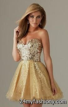 white and gold party dresses 2016-2017 » B2B Fashion