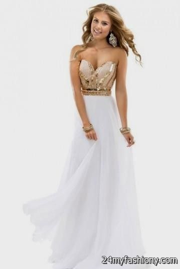 white and gold short bridesmaid dresses 2016-2017 » B2B Fashion