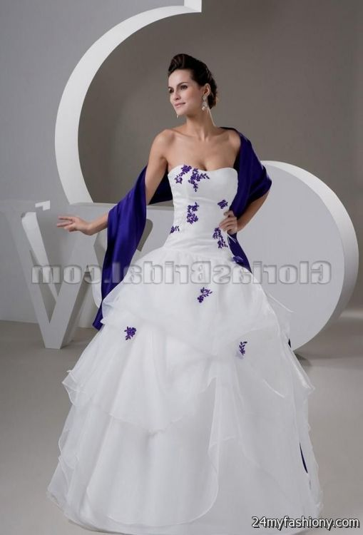 White And Light Purple Wedding Dresses - Missy Dress