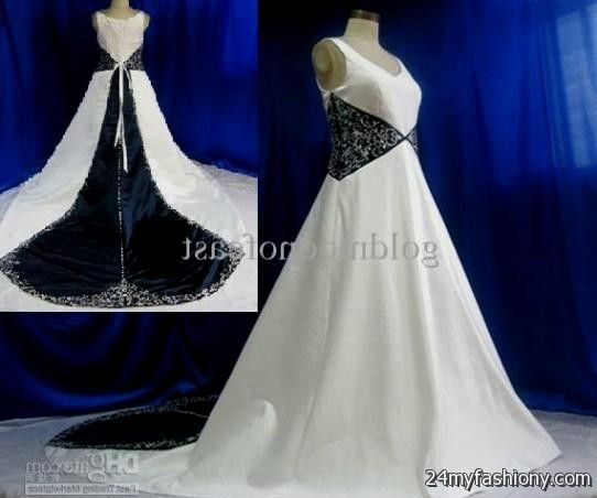 White And Navy Blue Wedding Dresses 2016 2017