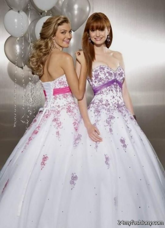 Purple White Prom Dresses – Fashion dresses
