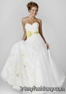 white and yellow wedding dresses 2016-2017 | B2B Fashion