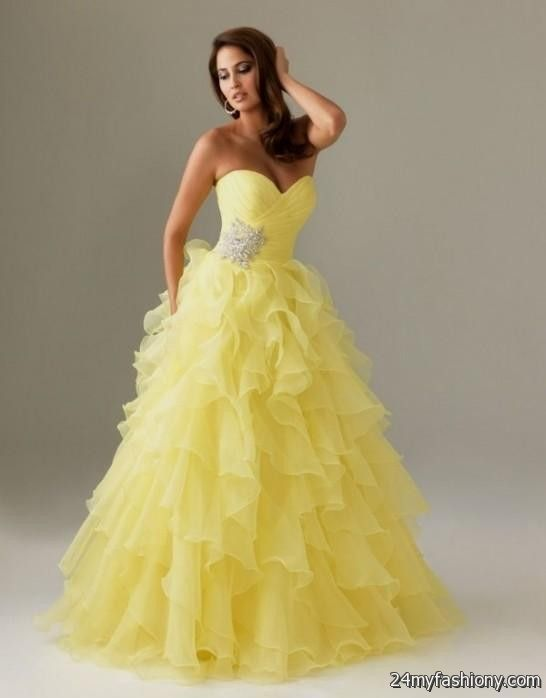 white and yellow wedding dresses 2016 2017 b2b fashion