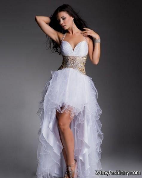 white high low prom dresses 20162017 b2b fashion