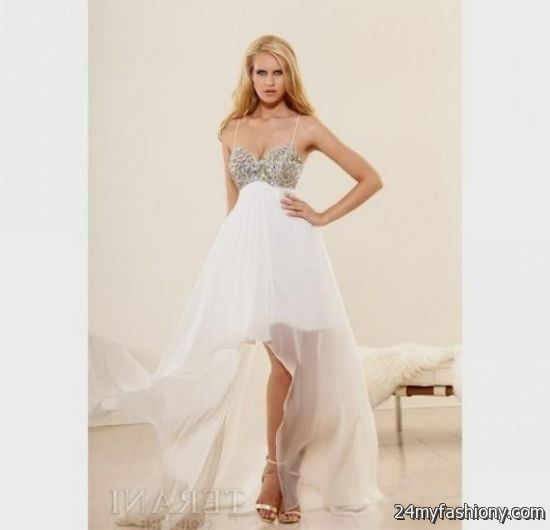 Prom Dresses 2014 High Low White