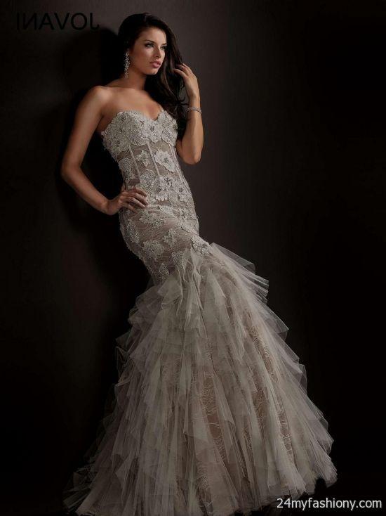 White Jovani Mermaid Dress Looks B2b Fashion