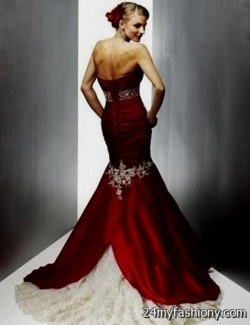 Wedding Dresses White Red And Black - Wedding Dresses Online