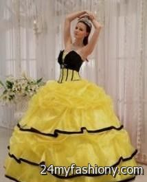 yellow and black quinceanera dresses 2016-2017 » B2B Fashion