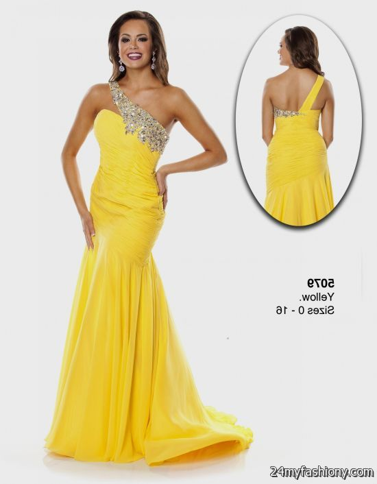 yellow pageant gowns 2016-2017 | B2B Fashion
