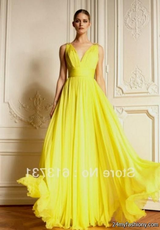yellow pageant gowns 2016-2017 » B2B Fashion
