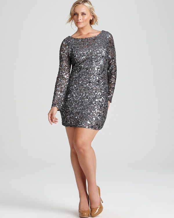 Plus size gold sequin dress 2016-2017 | B2B Fashion