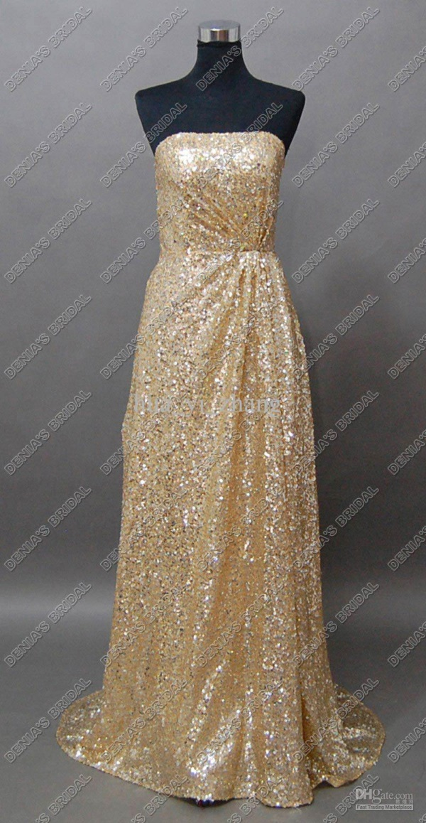 Plus Size Gold Sequin Dress Looks B2b Fashion