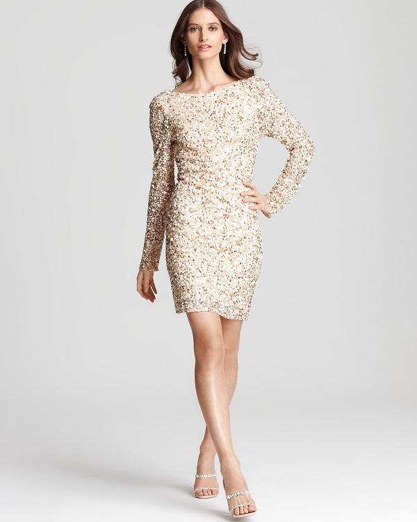Plus size gold sequin dress 2016-2017