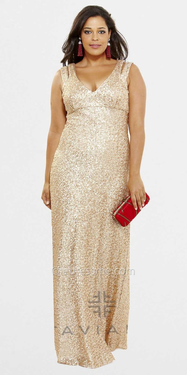 Plus size gold sequin dress 2016 2017 b2b fashion for Plus size beaded wedding dresses