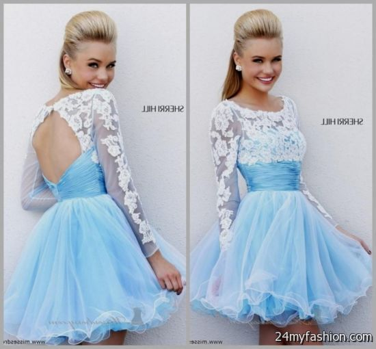 ffea984339e You can share these 8th grade graduation dresses with sleeves on Facebook