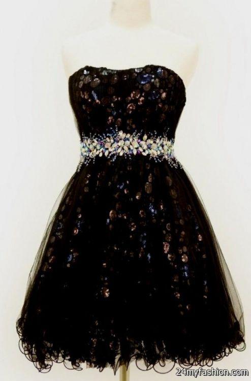 8th Grade Graduation Dresses With Straps Black Looks B2b
